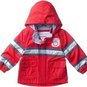 Carter's Red Fleece Lined Fireman Toddler Boy -2T